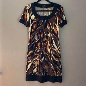 Ronnie Nicole Animal Print Shift Dress